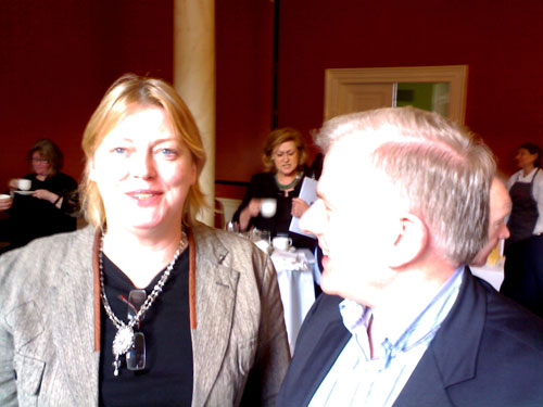 Mary Cloake (Arts Council) and Jack Gilligan (Dublin City Council)