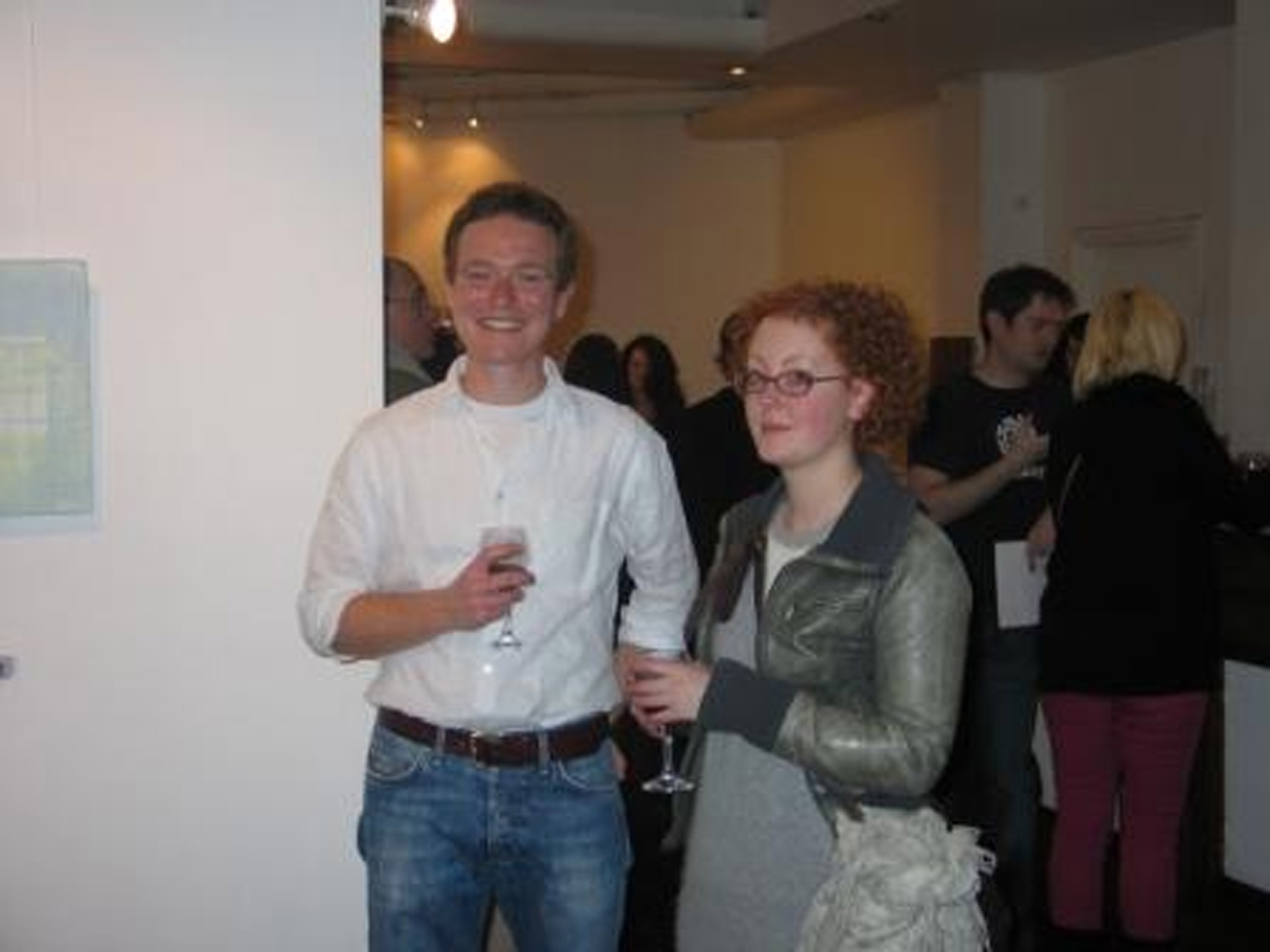 Peep artist Hugh Delap and Fiona Chambers; courtesy Talbot Gallery