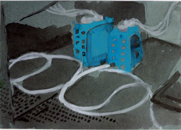 Ciarán Murphy: Conduit, 2011, watercolour and gouache on paper, 21 x 30 cm; courtesy the artist and Grimm Gallery, Amsterdam