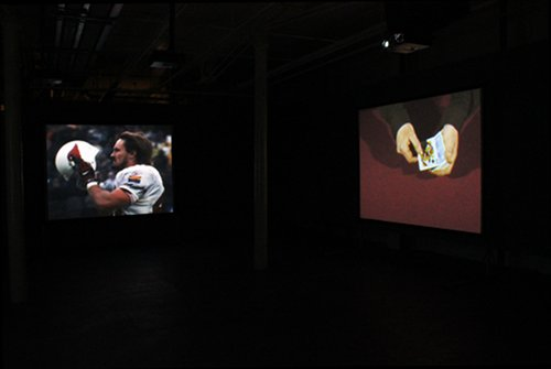 Allan Hughes: Enemy Blue, 2012, installation shot; courtesy the artist
