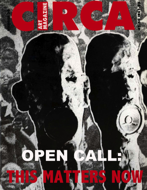 Cover of Circa Art Magazine #38 (bottom text superimposed)