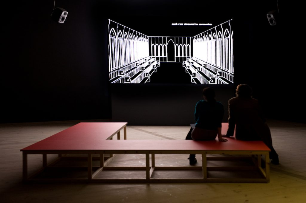 Elizabeth Price: The Woolworths Choir of 1979, 2012, HD video, 18:00 min installation view, Baltic Centre for Contemporary Art, Gateshead, Image courtesy the artist and MOT International, London and Brussels.