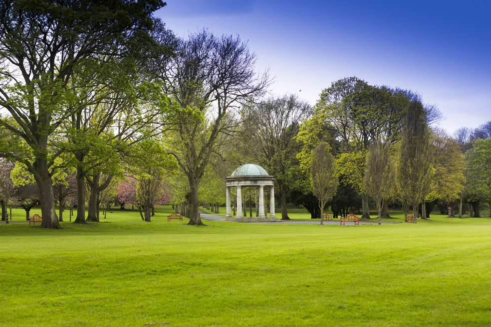 Site for Christina Kubisch's sound installation in the National War Memorial Gardens, Dublin. Courtesy of the Goethe-Institute and Eugene Langan.