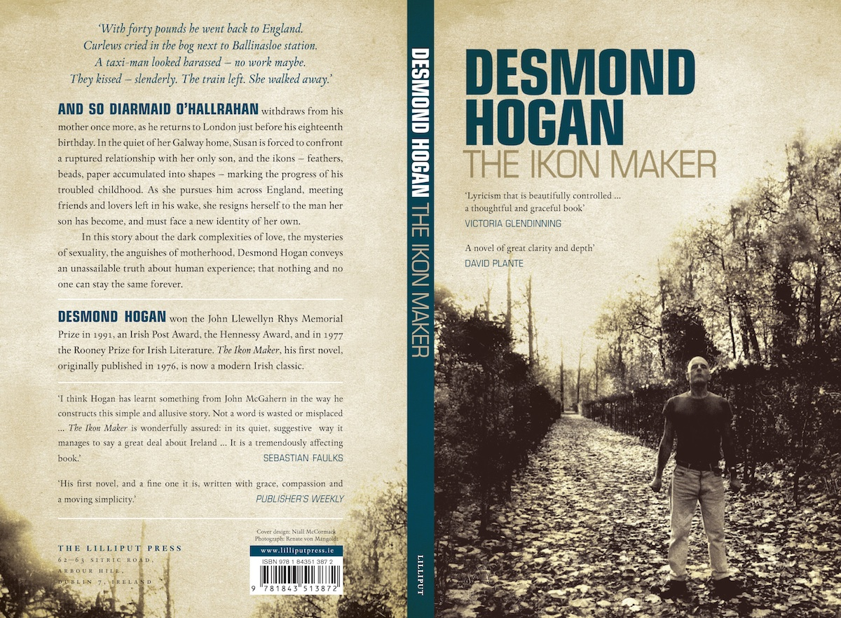 Book jacket of Desmond Hogan's The Ikon Maker, courtesy of Lilliput Press.