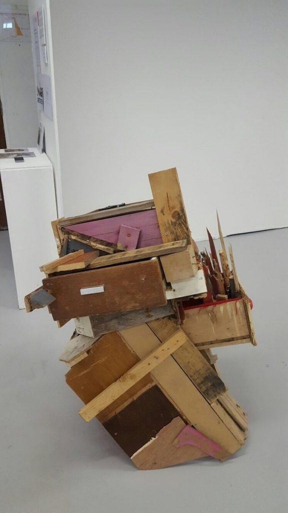 Clare Scott, 'This wasn't the first time it had happened', installation view, image courtesy of the writer.