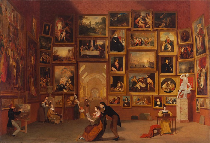 Samuel F.B Morse, Gallery of the Louvre, 1831 – 1833.