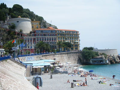 Enjoying the beach at the restaurant Castel; photo / courtesy the author