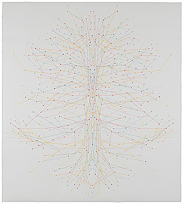 Ronnie Hughes: Totem, 2009, drawing, 157.5 x 141 cm; courtesy the artist