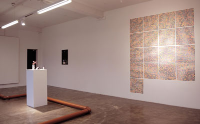 Martin Boyle: Sweet wall relief, 2009, fruit wine gums; courtesy Golden Thread Gallery