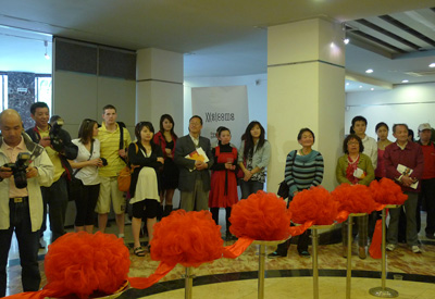 Engage exhibition opening crowd in Jing An District Culture Centre.