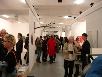 The view down one of the aisles - Kevin Kavanagh Gallery to the left, Stoney Road Press to the right; photo Hilary Murray